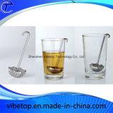 Tamis de thé d'acier inoxydable de forme de bille avec le crochet à chaînes