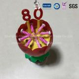 Hotsale Eco-Friendly Wax Flower Music Candle para Birthday Party