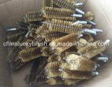 Pinceau à tube de fil en nylon / acier / Ss avec vis (YY-468)