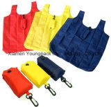 Sacchetto di Tote pieghevole di nylon di acquisto del poliestere su ordinazione 190t in sacchetto