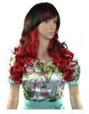 Il Ringlet accurato di scoppio di punti culminanti di colore delle donne di modo abbaglia le parrucche di colore