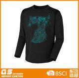 Camisa longa do esporte T da luva dos homens
