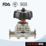 Válvula de diafragma embridada de la categoría alimenticia del acero inoxidable (JN-DV1004)