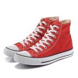 Ботинки холстины Кита красного цвета новой модели плоско чисто навальные