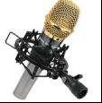 """K1 para los micrófonos del diámetro de 30-33m m (1.18 """" - 1.29 """") - ideales para el montaje de choque universal de radio del micrófono del estudio de difusión/del estudio de la voz superpuesta/de los sonidos"""