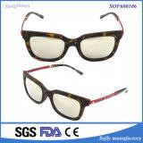 Runde Modedesigner-Smith-Sonnenbrillen mit Metallbügeln