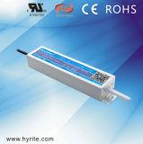 Fonte de alimentação impermeável do diodo emissor de luz da caixa de alumínio magro do excitador do diodo emissor de luz de Hyrite IP67 12V/24V 60W para o Signage com Ce RoHS TUV do Bis SAA Saso