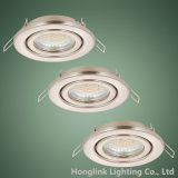공단 Nickel 230V Adjustable Recessed Ceiling Light Fixture LED Downlight