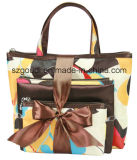 3 Stücke Fashion Ladys Travel Cosmetic Packing Bag mit Pouch und Bow