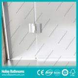 Porte simple de verre dépoli de porte de pivot vendant la pièce de douche simple (SE709M)