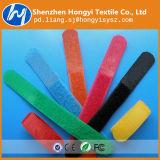 Colorul haltbare Flausch-Kabelbinder-Haken-u. Schleifen-Verpackungs-Daten/Draht-Zeilen
