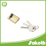 Goldtone 금속 안전 홈 단 하나 문호 개방 자물쇠 실린더