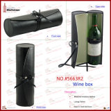 Cadre en cuir Shaped se pliant d'accessoires de vin d'unité centrale de bouteille