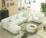 Sofá de canto de couro genuíno de estilo europeu