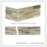 Pietra di marmo di legno bianca della coltura dell'ardesia della Cina per il rivestimento della parete