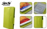 Glissement de la couverture universelle de téléphone portable de cuir de chiquenaude de fonction