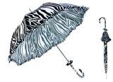 Ombrello automatico diritto di disegno di Black&White (YS-SA23083923R)
