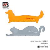 Régua 2016 animal de medição do plástico dos desenhos animados da forma dos artigos de papelaria do escritório