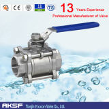 Steel di acciaio inossidabile 304/di 316 Thread Cina Ball Valve in 1PC/2PCS/3PCS
