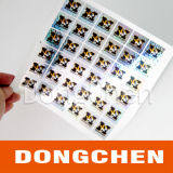 Etiqueta engomada de encargo del holograma del rodillo de la garantía impermeable barata de la alta calidad