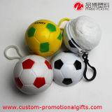 Fußball-Form-Großverkauf Wegwerf-PET Regen-Poncho