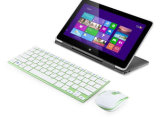 Mini rato e teclado sem fio magros de alumínio novos do computador 2.4G