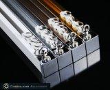Profils en aluminium de voie de rideau avec la couleur blanche balayée