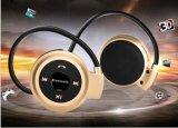 Auscultadores estereofónico dos auriculares de Bluetooth do mini esporte de 503 Neckback com rádio de FM