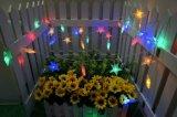 Les lumières colorées de chaîne de caractères d'étoile de décoration de PVC Conectable DEL