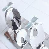 mesa de centro do vidro Tempered de 12mm com base do aço inoxidável