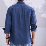 Ispessire 100%Acrylic Denim Shirt per Men Winter Keep Warm