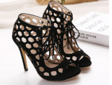Пятка способа высокая Hallow вне ботинки женщин (HC 010)