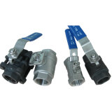 Precisión Casting Stainless Steel 1PC Reduce Bore Screwed Ball Valve