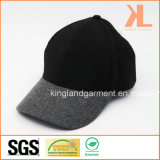 Polyester-u. Wolle-Qualitätswarme normale graue u. schwarze Baseballmütze