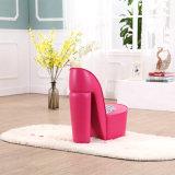 High Heel Kids Fabric Upholster Chair / Children Furniture