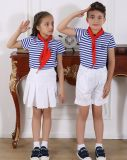 Muchacho de escuela primaria con estilo modificado para requisitos particulares de la manera y uniforme S53109 de la muchacha