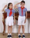 Menino de escola preliminar à moda personalizado da forma e uniforme S53109 da menina