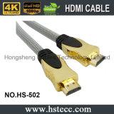 Câble à grande vitesse de l'interpréteur de commandes interactif HDMI en métal