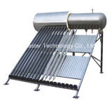 Het compacte Systeem van de Verwarmer van het Hete Water van de Buizen van het Glas van de Druk Zonne