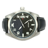 Alta qualità Genuine Leather Waterproof Wristwatch per Men MW-01