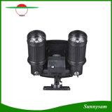 Riflettore impermeabile rotativo di 7*2 LED di energia solare della testa PIR di movimento del sensore del giardino della parete del punto dell'indicatore luminoso della lampada doppia esterna di obbligazione