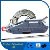 1.6t que tira del uso y del cable de transmisión manual que tiran del torno