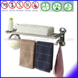 空気真空の吸引のコップが付いている二重層の浴室のタオル掛け