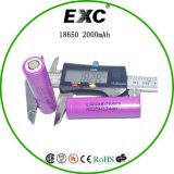 Dernières faible autodécharge 2000mAh 3.7V 18650 Batterie