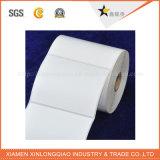 Белый принтер бумаги винила напечатал стикер прилипателя печатание ярлыка обслуживания