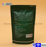 Aluminiumfolie-Fastfood- Reißverschluss-Kunststoffgehäuse-Beutel verwendet auf grünem Tee