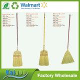 Vassouras de bambu de suspensão do milho do agregado familiar com o punho curto de madeira
