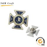 선물 (Q09138)를 위한 2개의 색깔 기장 접어젖힌 옷깃 Pin를 가진 국기