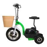 Hoogste Kwaliteit 500W 3 Kleine Elektrische Autopedden van het Wiel voor Goedkope Verkoop