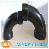 ABS Dwv de taille de 1.5 pouce ajustant la longue courbure du mouvement circulaire 1/4